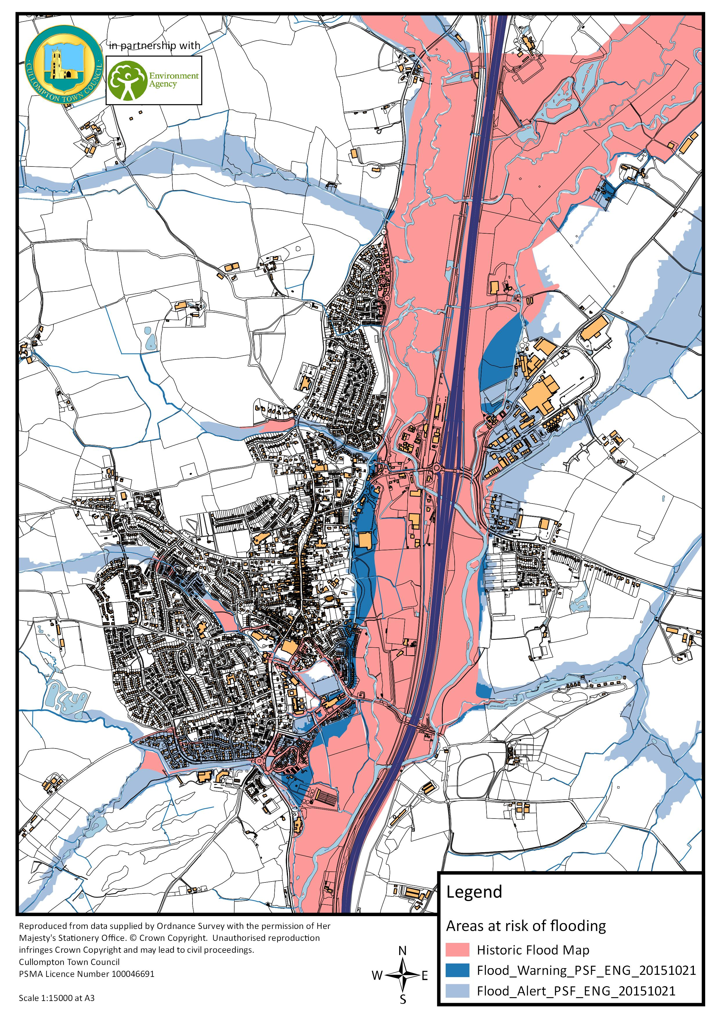 Flood risk map